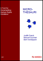 Micro-thesauri cover page